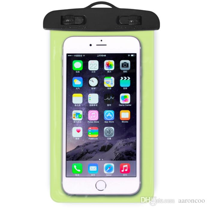 2018 New Clear Transparent Waterproof Pouch Bag Case for Cell phone with Neck strap