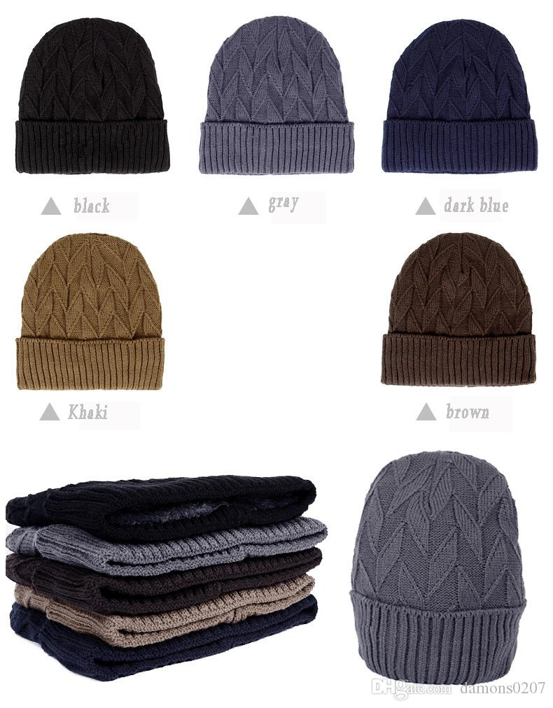 27dbbfc3b0b 2018 Autumn And Winter New Middle-aged Hat Jacquard Knit Hat Plus ...