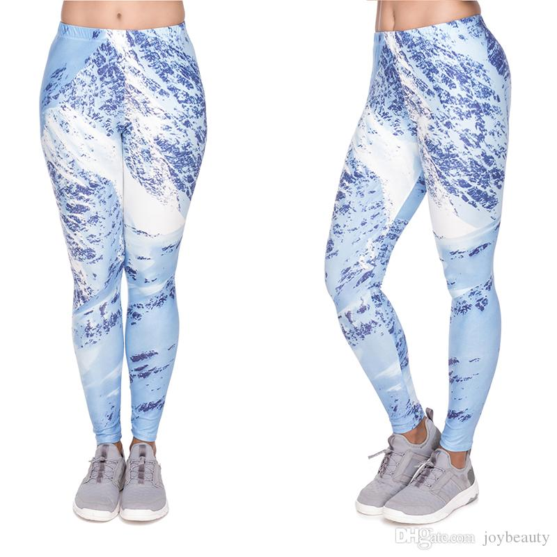 68b2938cf079 2019 Women Leggings Mountain Winter Pattern 3D Print Lady Stretchy Sport  Yoga Wear Pants Girl Jeggings Tight Soft Capris Trousers YX52065 From  Joybeauty, ...