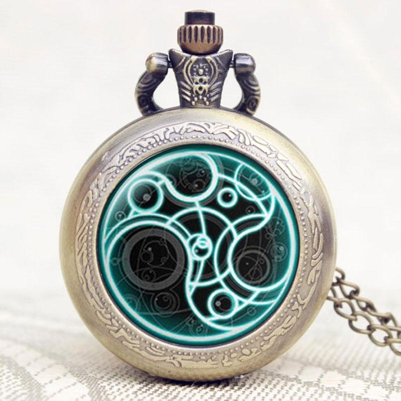 0cc51099332 Quartz Pocket Watch Doctor Who Glass Dome Bronze Pendant Necklace Chain Man  Woman Birthday Gifts High Quality Relogio De Bolso Unique Watches Pocket  Watches ...