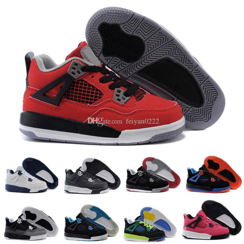 new product a9a19 489db Compre 2018 Nike Air Jordan 4 13 Retro Crianças 4 4s Criados TORO BRAVO  Vermelho Fogo Preto Vermelho Das Mulheres Dos Homens Tênis De Basquete  Tênis De Alta ...