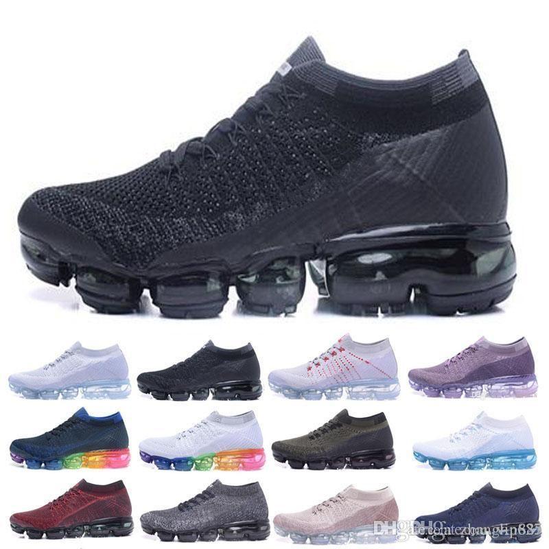 best cheap 0d6d1 806cc Acquista Vendita Calda Vapormax Scarpe Da Corsa Uomo Donna Classic Outdoor Nero  Bianco Sport Shock Da Jogging Walking Hiking Sport Athletic Sneakers Scarpe  ...