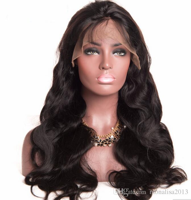 Brazilian Body Wave Full Lace Human Hair Wigs For Black Women Remy Swiss Lace Human Hair Wigs With Baby Hair Lace Wig