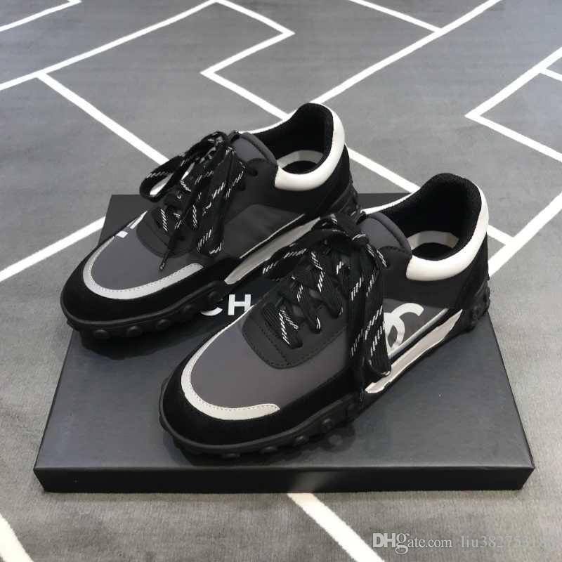 5ab43b6d9c7f Mens Low Top Calfskin Fashion Luxury Designer Logo CC Sneakers ...