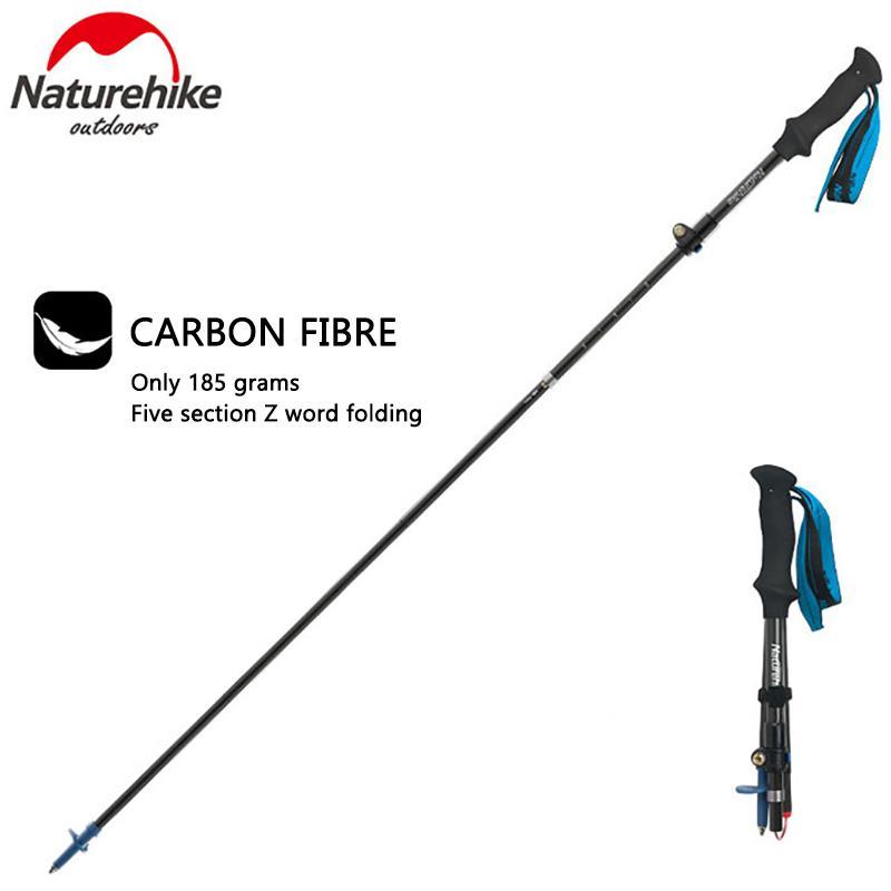 2f608bfd6a5 Ultra Light Adjustable Camping Hiking Walking Stick Carbon Fiber Outdoor  Multi Functional Sticks Five Folding Mountaineering Carbon Trekking Poles  Leki ...
