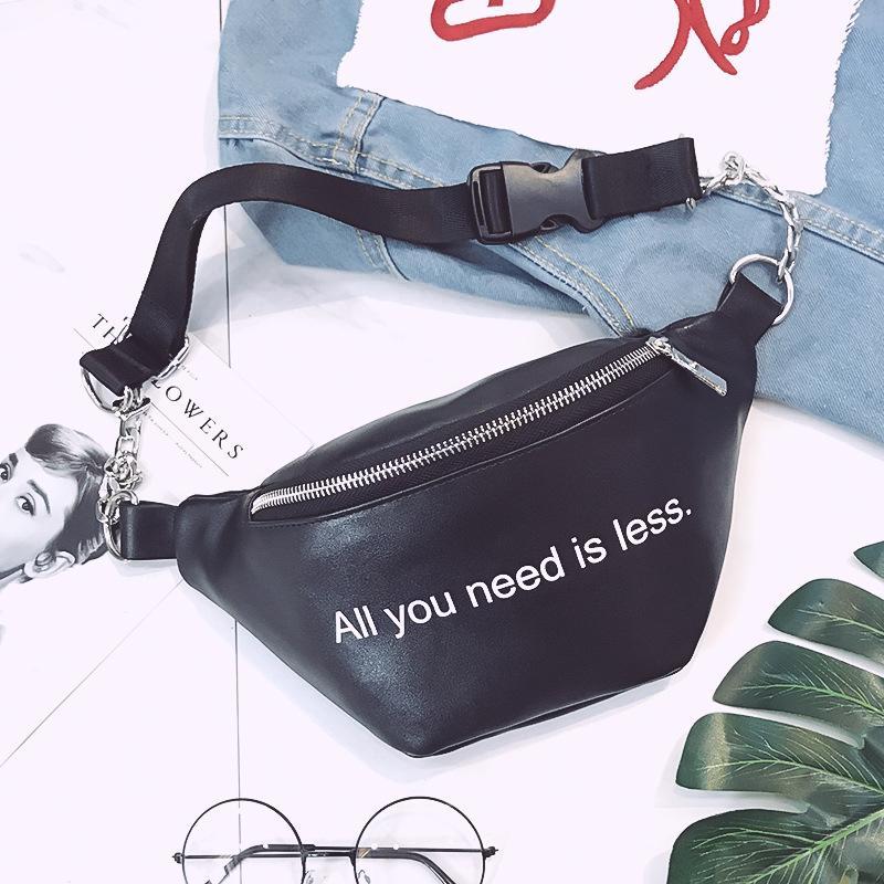 199c8759e2a7 Fashion Chain PU Leather Fanny Pack Waist Bag Bananka Waterproof ...
