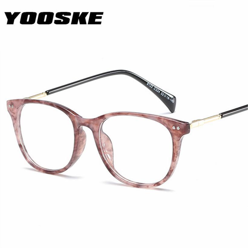 6125e8af7faf YOOSKE Women Men Glasses Frame Fashion Fake Glasses Spectacles ...