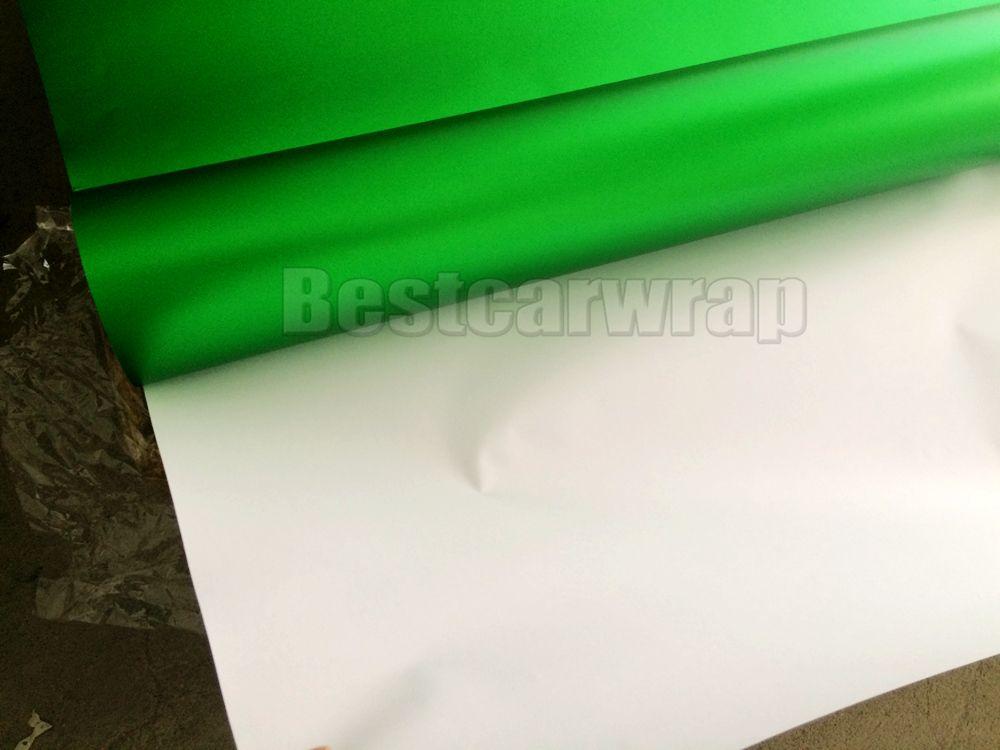 Film d'enveloppe de vinyle de chrome de satin vert de qualité avec la libération d'air / taille libre de bulle 1.52x20m / petit pain de rouleau de 5x67ft