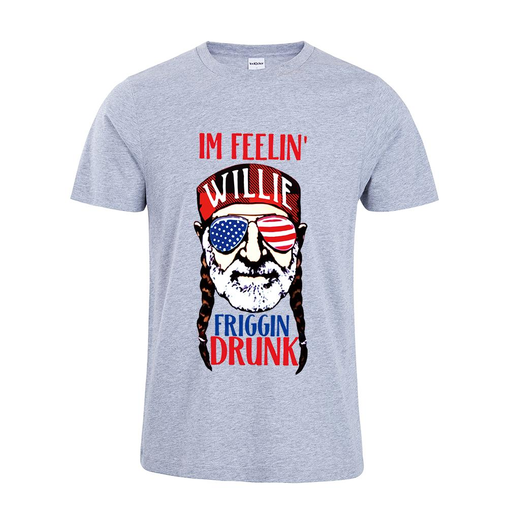 fe24776f Willie Nelson Inspired Shirt Funny Graphic Tee I'm Willie Friggin Drunk T- Shirt 4th July Shirt