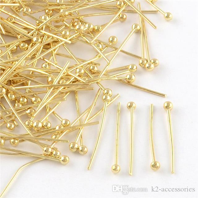Gold & Silver Plated Metal Ball Head Pins 16mm 18mm 20mm - Ballpins