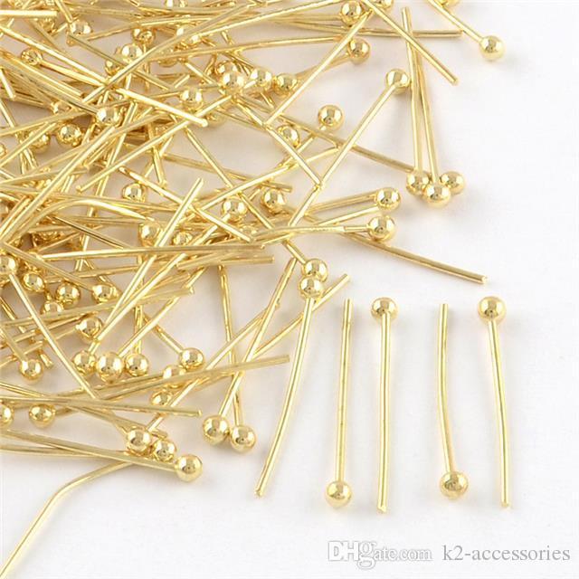 / or argent plaqué boules à tête sphérique en métal 16mm 18mm 20mm - Ballpins