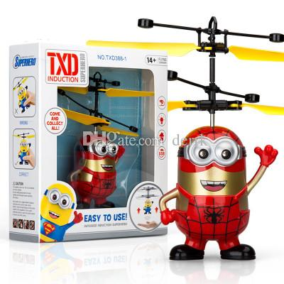 9 types RC Drone Flying copter Ball Aircraft Helicopter Led Flashing Light Up Toys Induction Electric Toy sensor Kids Children Christmas