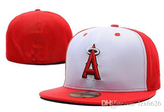 One Piece Wholesale Price Classic Angels White Red Color Fitted Hats A  Letter Embroidered Baseball Closed Caps Kids Hats Ball Caps From Lzx6626 8a7e3429594c
