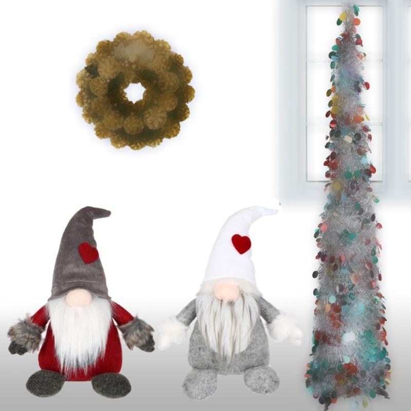 Swedish Christmas Decorations.Swedish Christmas Home Decor Santa Claus Tomte Standing Gnome Plush Doll Long Hat Christmas Decorations For Home Y18102909