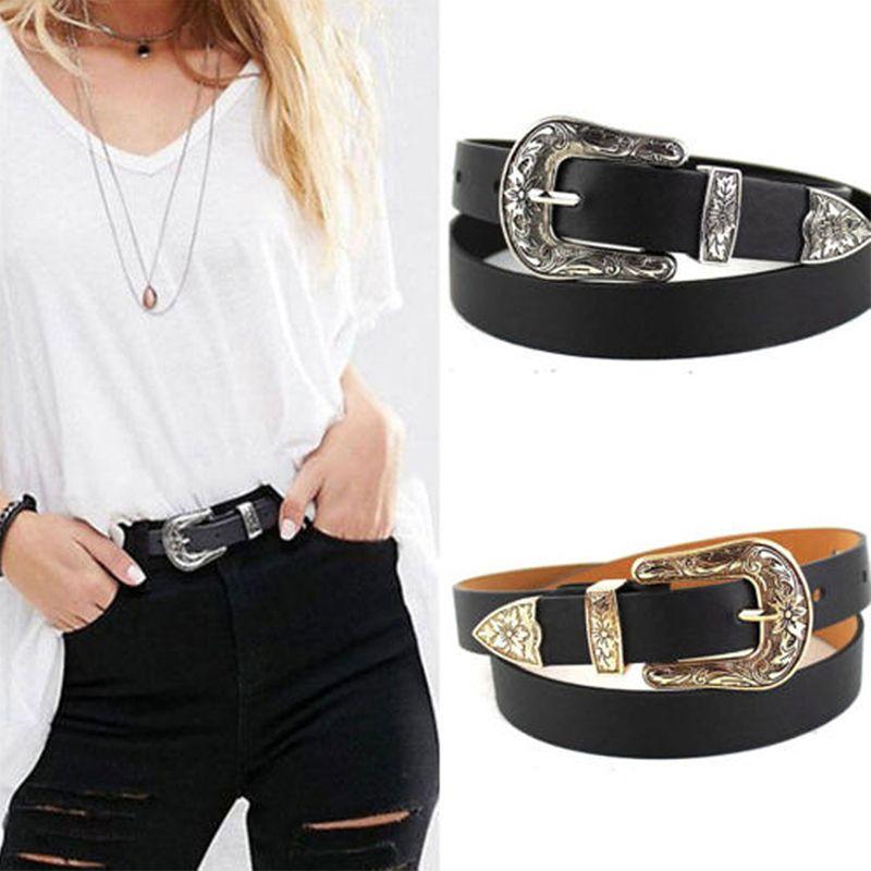 87113ae0e Hup Women Black Leather Western Cowgirl Waist Belt Metal Buckle Waistband  New Hot Gold Waist Belt Garter Belt Sets From Gocan, $27.6| DHgate.Com
