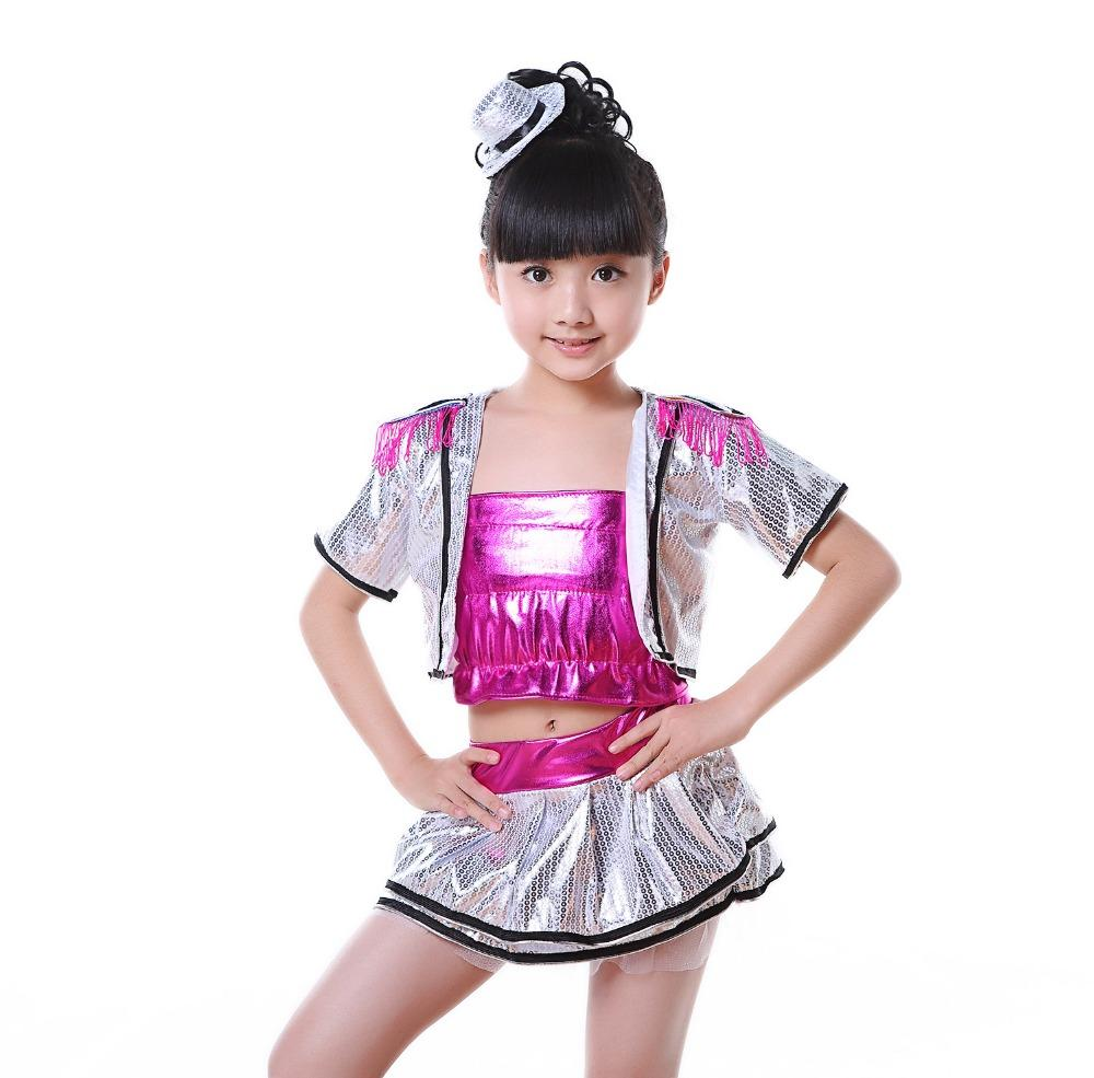 40c317167 2019 2017 Kids Jazz Dance Costumes For Kids Sequin Salsa Hip Hop ...