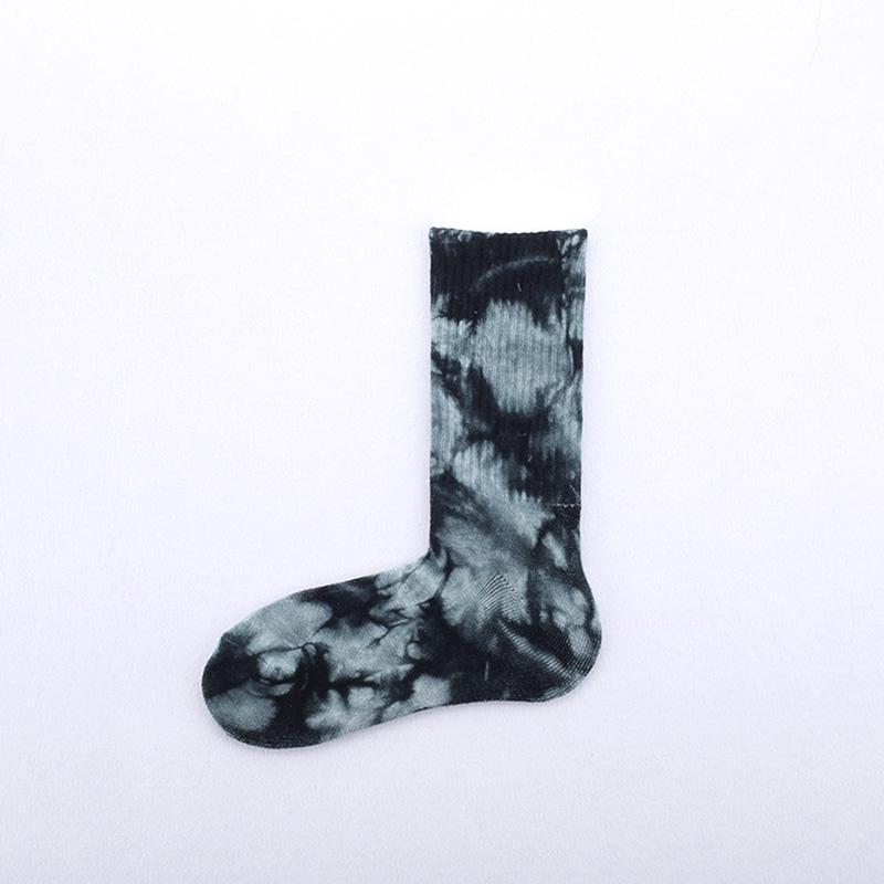 Moda Unisex Yenilik Renkli Kravat-boyama Kaykay Çorap. Cotton Harajuku Hiphop Çorap Sox Etnik Çift Uzun Çorap Meias
