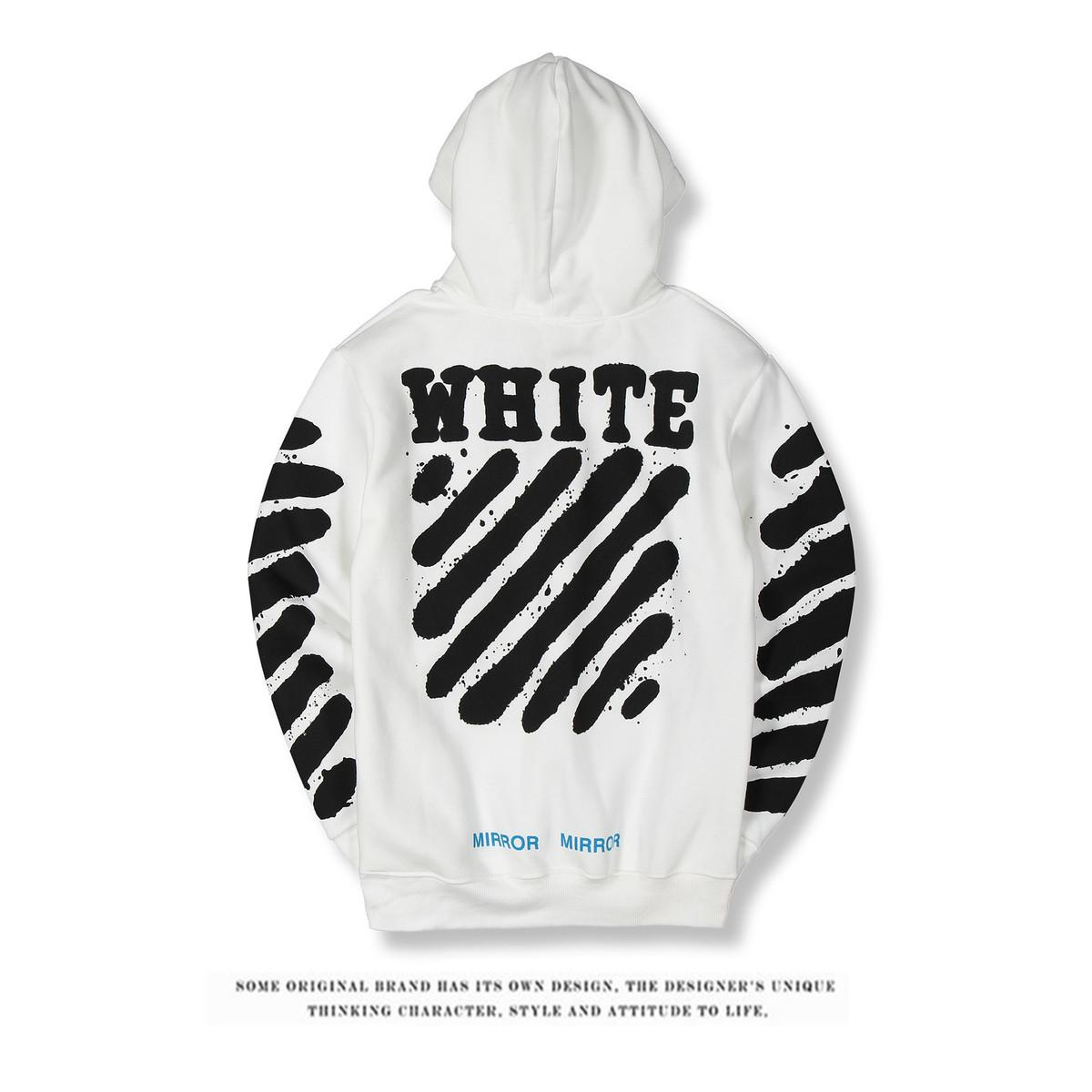 19ace936e708 2018 Hoodies Sweatshirts For Men 2018 Autumn And Winter Tiger Stripe Ink  Caps White Student Lovers Fashion Hat From Otaku88