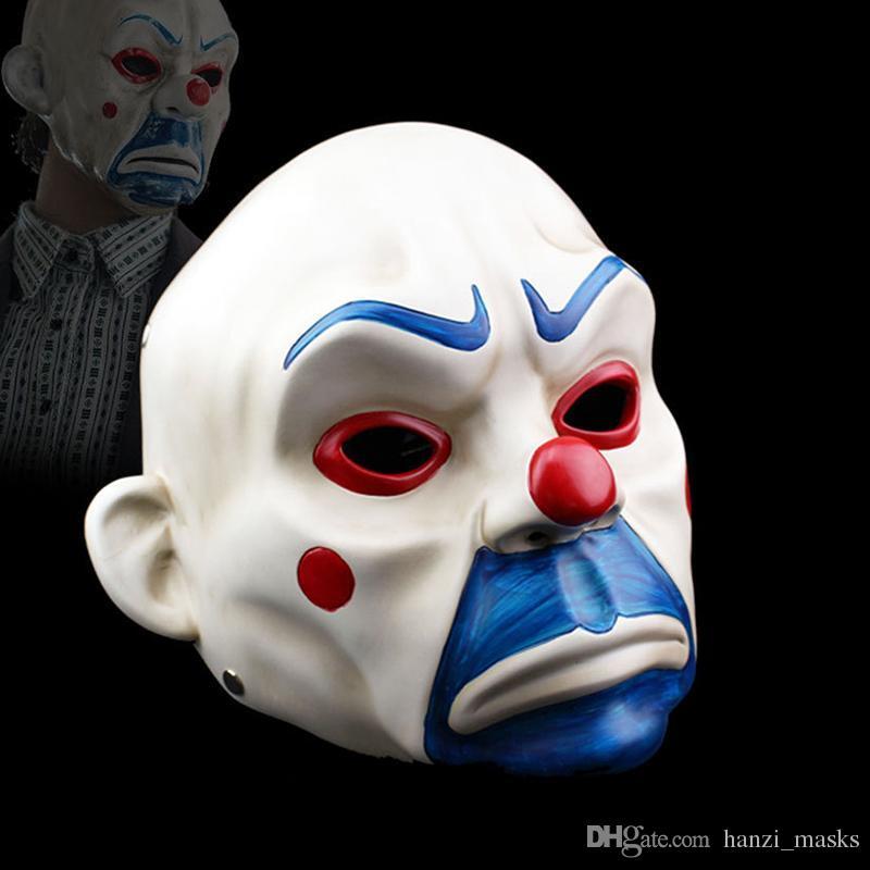Satın Al Hanzi masks Yetişkin Yüksek Dereceli Reçine Joker Banka Soyguncu  Maske Palyaço Batman Dark Knight Cadılar Bayramı Prop Masquerade Parti ...,   27.62 ... 3d52437df4