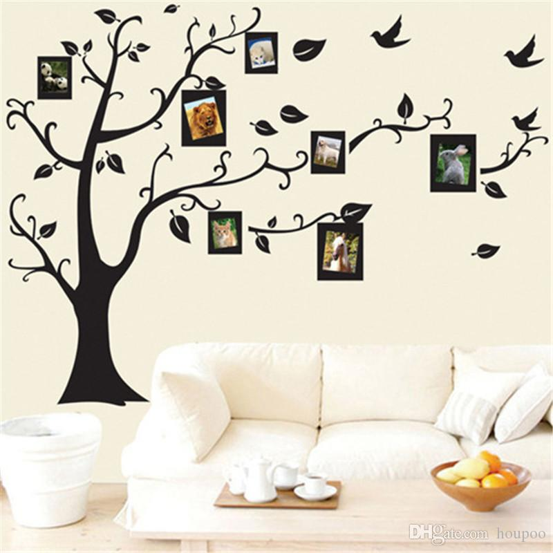 bulk 50*70cm tree of life wall stickers with photo frame wallpaper