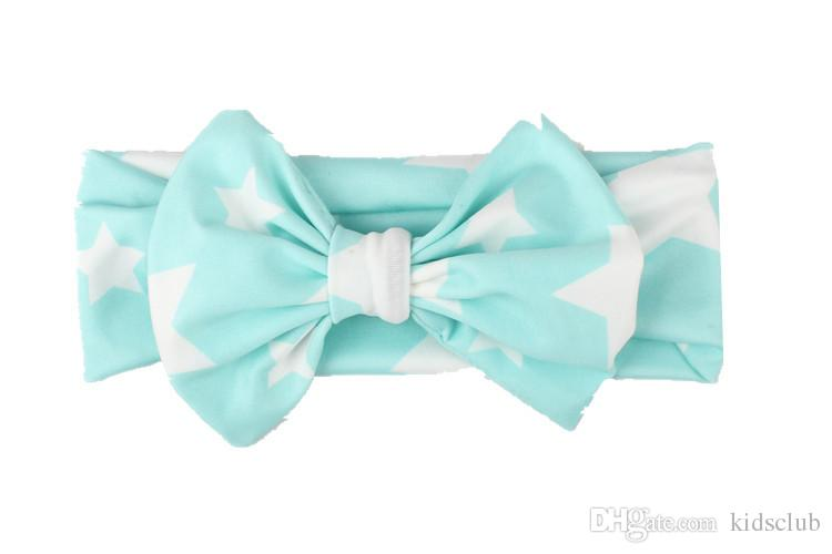 Europe and The United States Hot Wild Fashion Cute Star Print Bow Fresh Child Hair Band