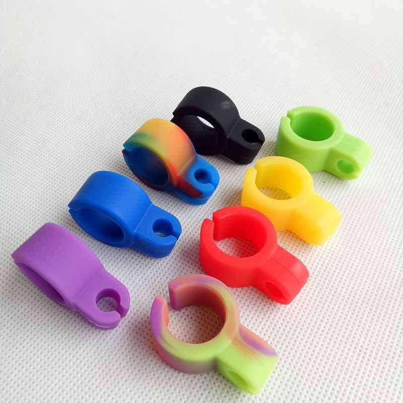 Silikon-Zigaretten-Halter Tabak-Ring Raucher-Rohrwerkzeuge Zubehör 8 Farben für Haken Wasser Bubbler-Bongs-Öl-Rigs
