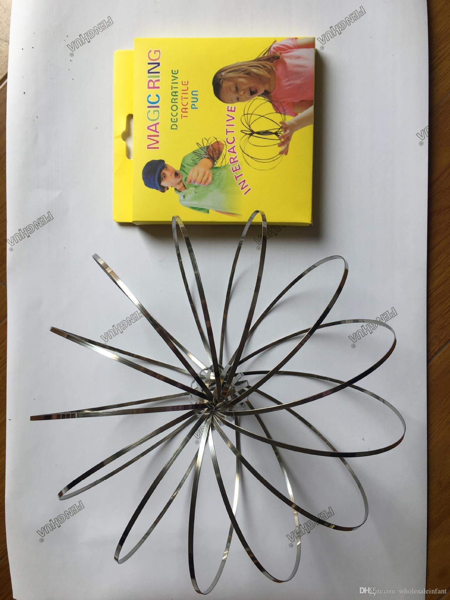 Оптовая xmax подарки металла Toroflux поток кольцо игрушка голографическая По во время движения создает кольцо поток Радуга игрушки поток кольца OTH571