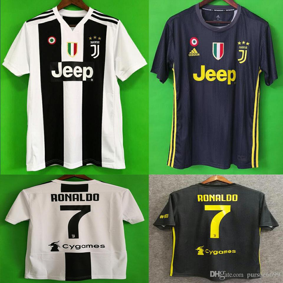 2019 New 2019 RONALDO JUVENTUS Soccer Jersey 18 19 JUVE 2018 Home Away  DYBALA HIGUAIN BUFFON Camisetas Futbol Camisas Maillot Football Shirt From  Pursue6699 ... 5d7c2b15a7f19