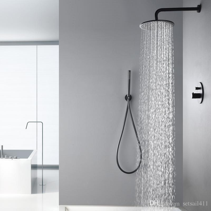 2018 Ceiling Mounted 300mm Rainfall Showerhead Thermostatic 2 ...