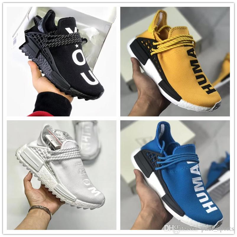 4896b6c46ca3 PW Human Race NMD Yellow Red Green Blue All White Designer Casual ...