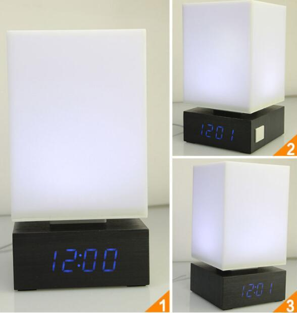 2019 M.Sparkling Light LED Table Lamp Desk Bedroom Voice Alarm Clock ...