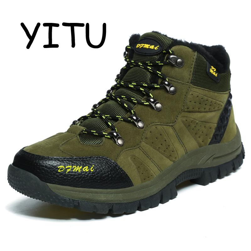 YITU Outventure Suede Leather Mens Hiking Boots Shoes Outdoor Sneakers  Breathable Hiking Shoes Hunting Mountain Shoes Waterproof UK 2019 From  Vanilla12 f3bc23142