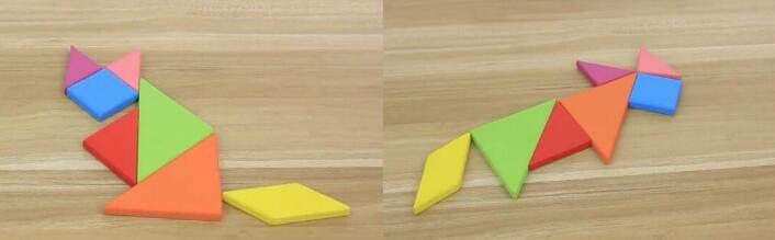 Mini Tangram Wooden Toys Children Kids Educational Tangram Shape Wooden Puzzle Toy Brand FT Blocks DHL Free