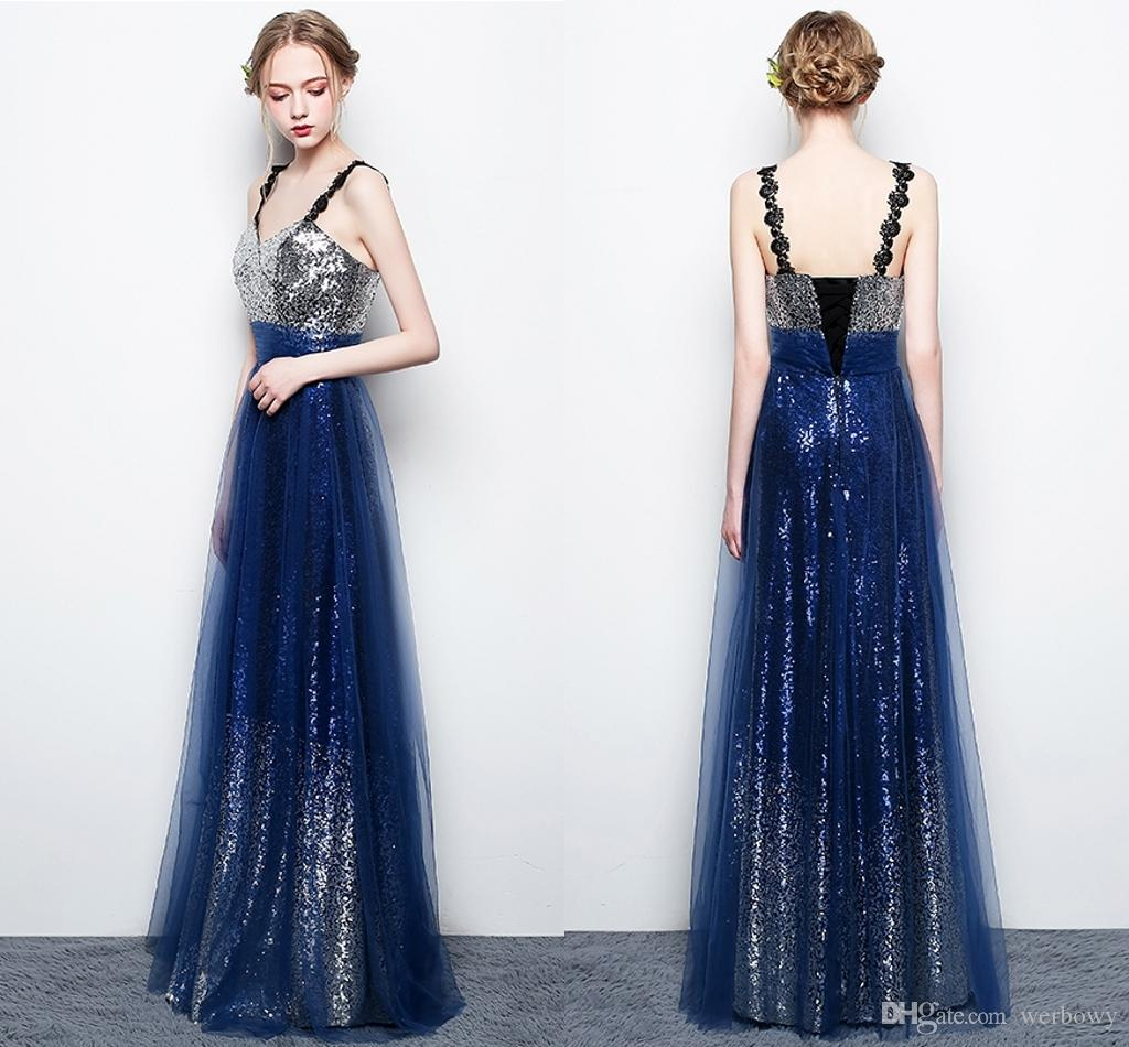 New Elegant Elegance Star Party Evening Dresses V Neck Halter Belt Long  Sequins Party Prom Dresses HY057 Mermaid Prom Dresses Under 200 Multi  Colored Prom ... ae8ab7d8c48c