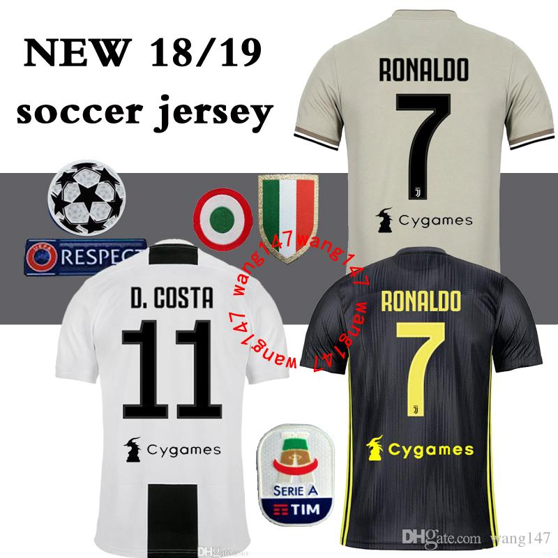 2019 18 19 Juventus Juve Soccer Jersey HOME Dybala 2018 2019 Ronaldo  HIGUAIN MATUIDI MANDZUKIC Champions League AWAY Football Shirts TOP QUALITY  From ... a9cd32da5
