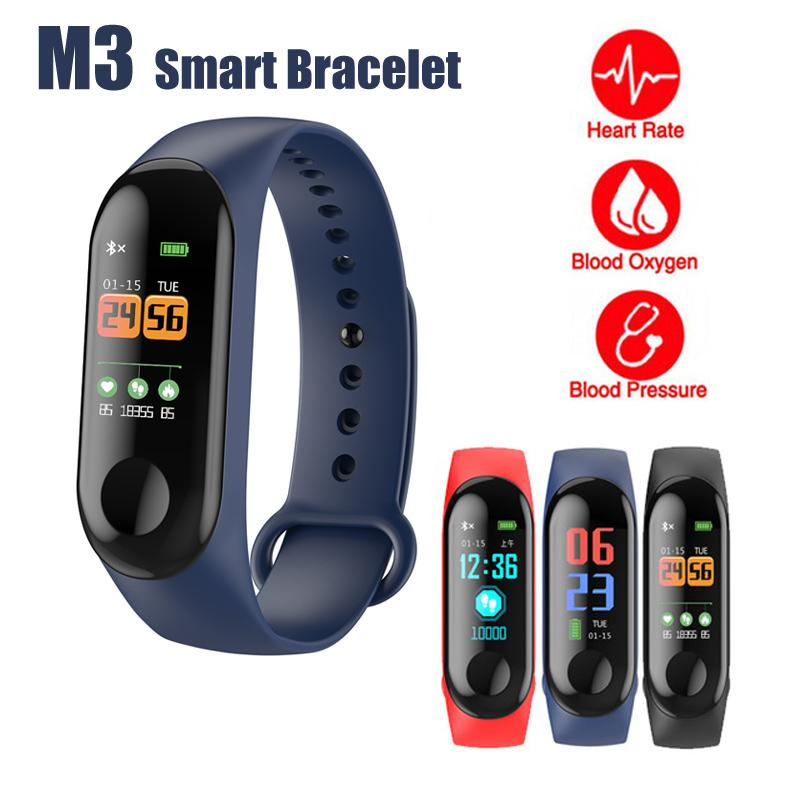 3a8856830f Upgraded M3 Smart Bracelet Fitness Tracker Smart Band With Heart Rate M3c  Waterproof Bracelets Pedometer Wristband For IOS Android Cellphone Smart  Wearable ...