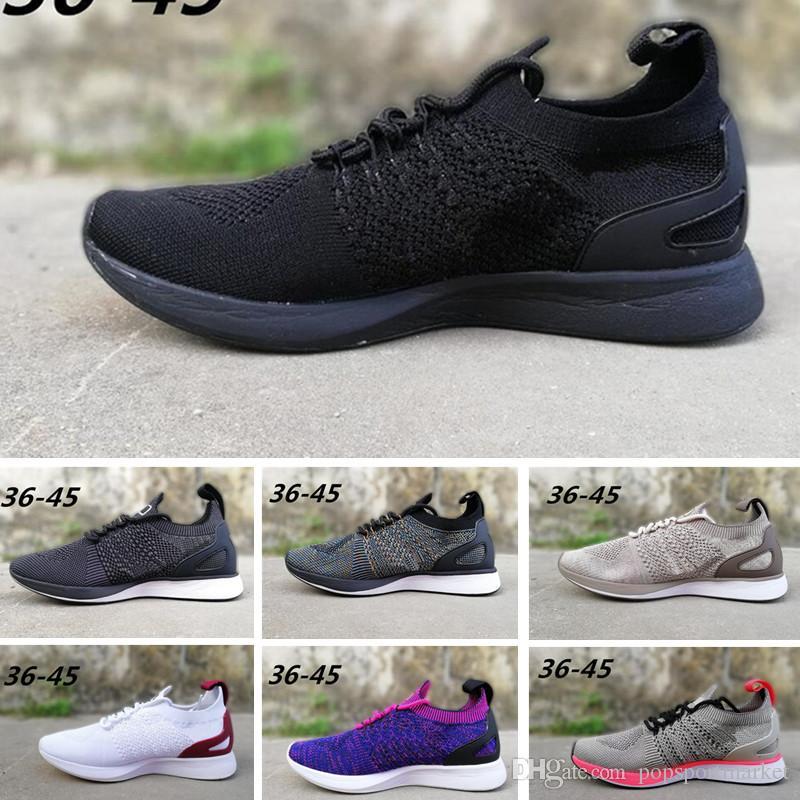 new style 27b5f cef49 Acheter Nike Flyknit Race Date Air Zoom Mariah Racers 2 Chaussures De  Course 2018 Hommes Femmes Casual Sport Chaussures Racers Randonnée Sneakers  En Plein ...