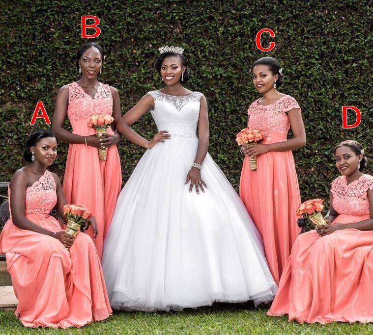 A Line Long Bridesmaid Dresses
