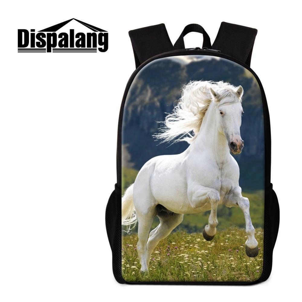 Horse Backpack for Girls Teenager Schoolbag Cool Animal Book Bag for Boys  Customized School Back Pack Children Satchels Mochilas