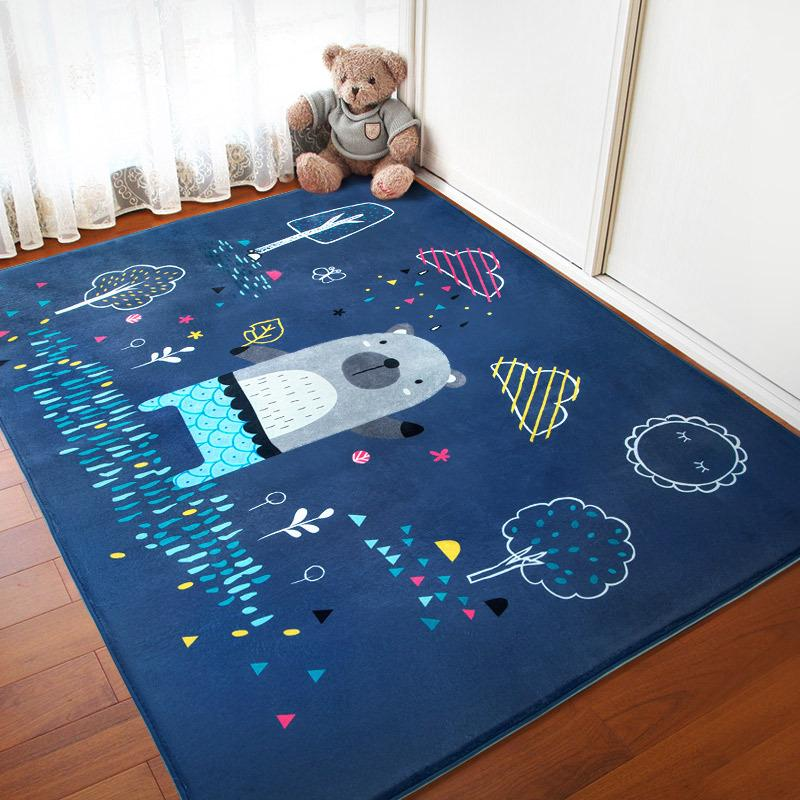 Large Rugs For Living Room | Infant Shining Baby Play Mats Children Cartoon Carpet Suede Large