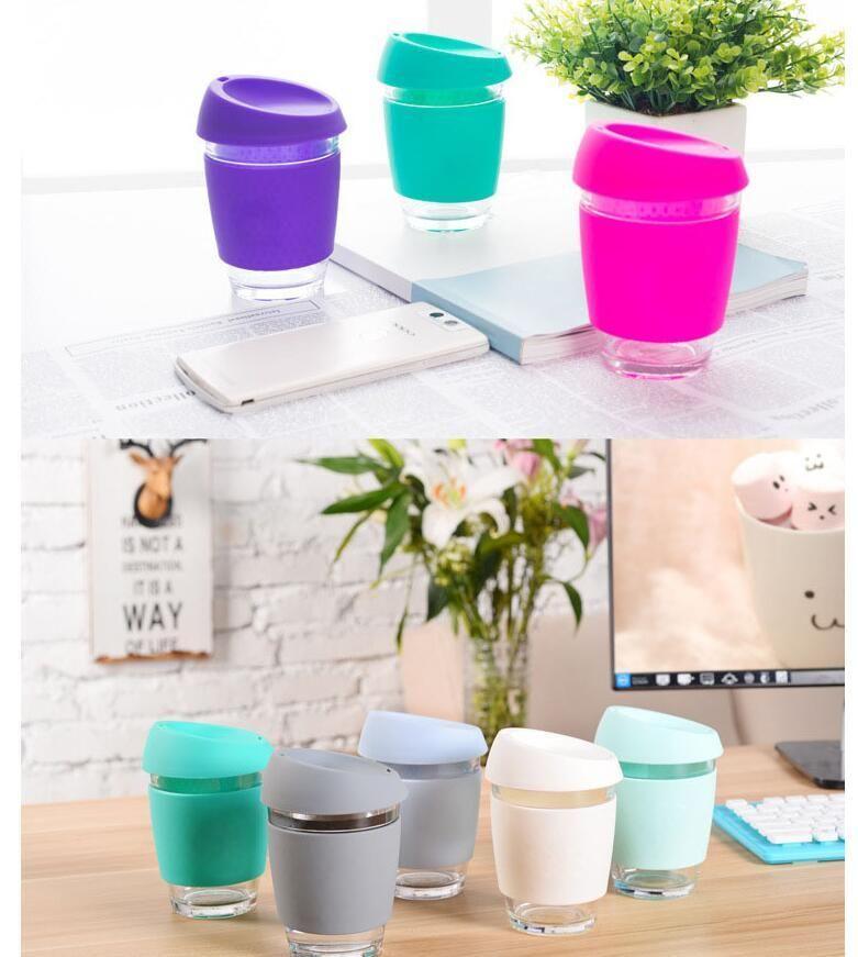Réutilisable Café Verre Voyage Couleur Coupe Bonbons Safe Gratuite Mugs Chaude Couleurs Livraison Design Vente 15 Tasse eCdBox