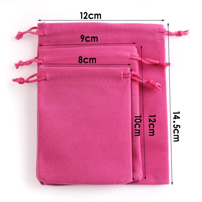 High quality Custom Jewelry Gift Bags Soft Velvet Packaging Drawstring Christmas Wedding Bags & Pouches 3 sizes