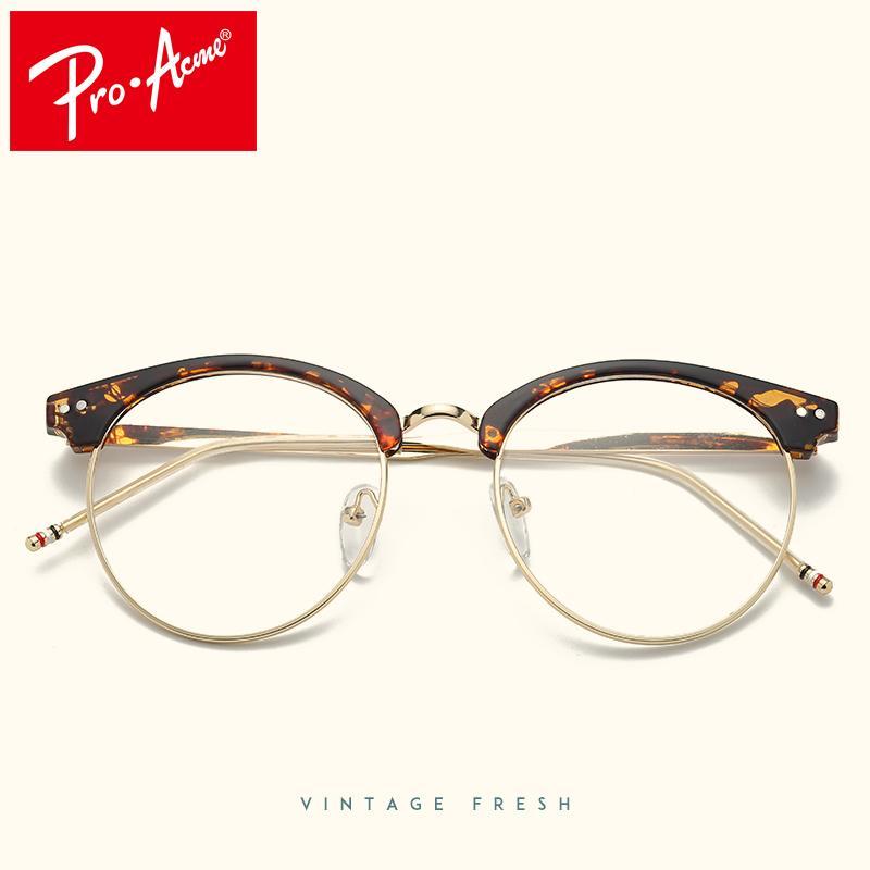 Compre Pro Acme Design Redondo Transparente Óculos Para As Mulheres Retro  Óculos Ópticos Quadros Óculos De Leitura Lentes Opticos Hombre CC1109 De  Gwyseller ... 07007e041e