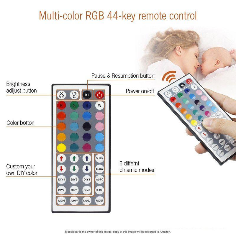 5050 60LED أضواء LED قطاع ماء RGB 5M قطاع الخفيفة 44key ir تحكم عن dc 12 فولت امدادات الطاقة