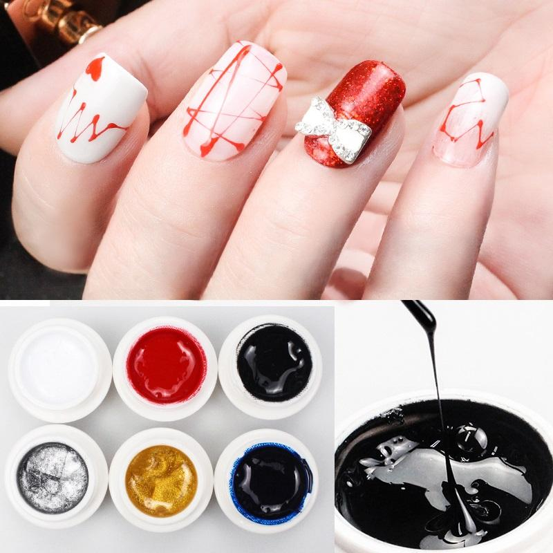 PinPai 5ml Nail Art Painting Liner Gel Polish Soak Off Builder UV LED Pattern Gel Polish Acrylic Varnish Manicure Draw Lacquer
