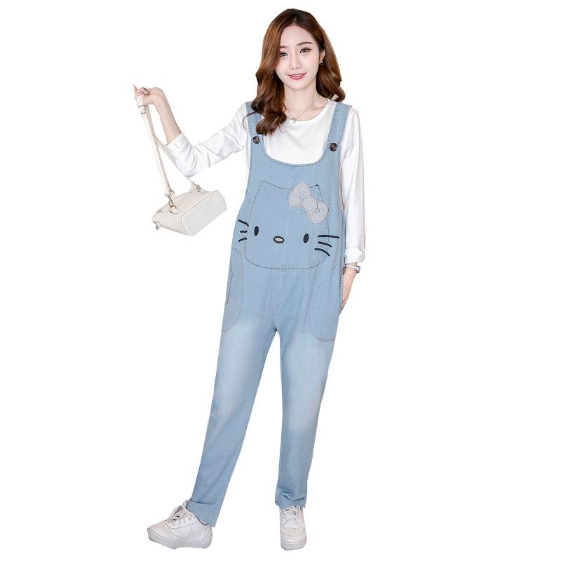 ea0a69802879c 2019 Pocket Under Belly Maternity Jeans For Pregnant Women Long Boyfriend  Pregnancy Jeans Overall Cute Kitty Denim Maternity Jumpsuit From  Waistband18, ...
