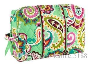 NWT VB flower Cotton large Cosmetic Cases makeup bag
