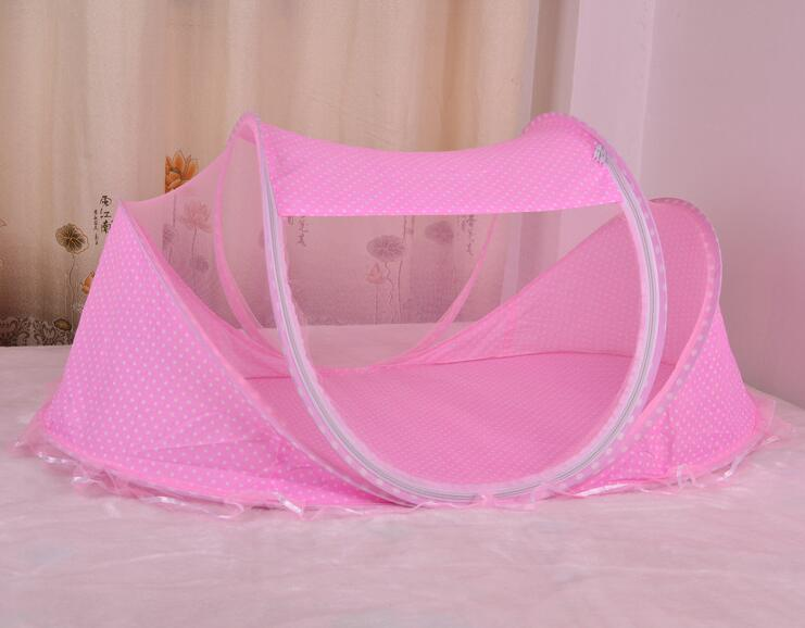 New Baby Crib 0-3 anni Baby Bedding Zanzariera portatile pieghevole culla Culla Zanzariera in cotone Sleep Travel Bed Set