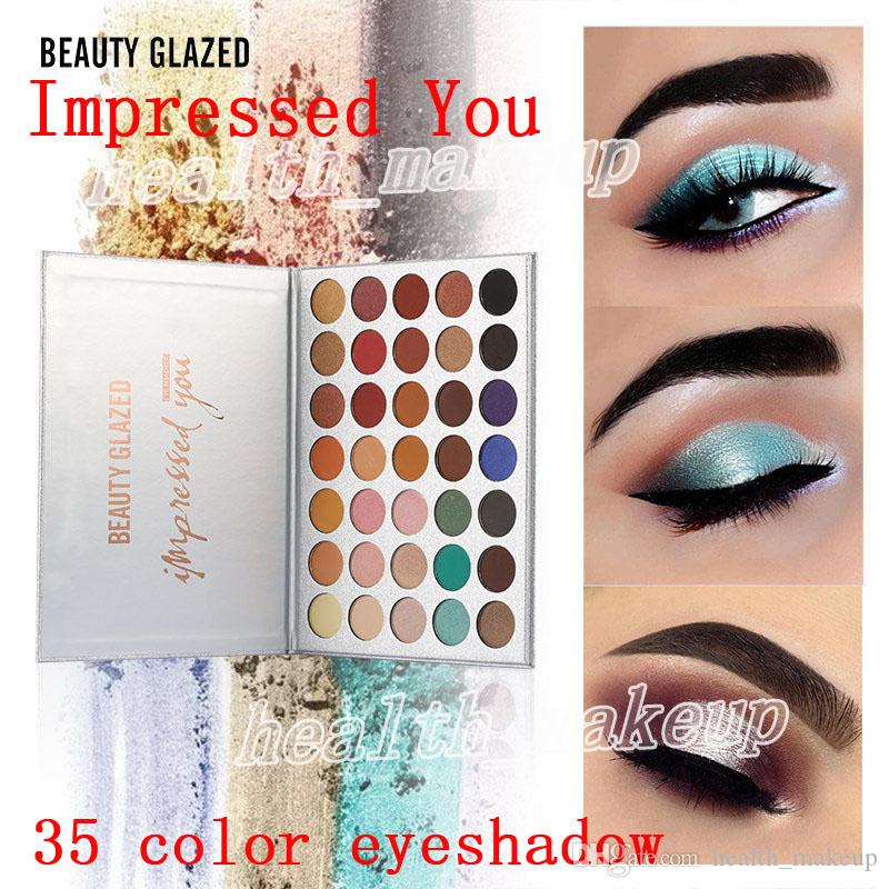 Top Quality DHL Free Makeup Beauty Glazed Eyeshadow Palette 35 Colors Palette Impressed You Matte Shimmer Daily Party Fashion Eye Shadow