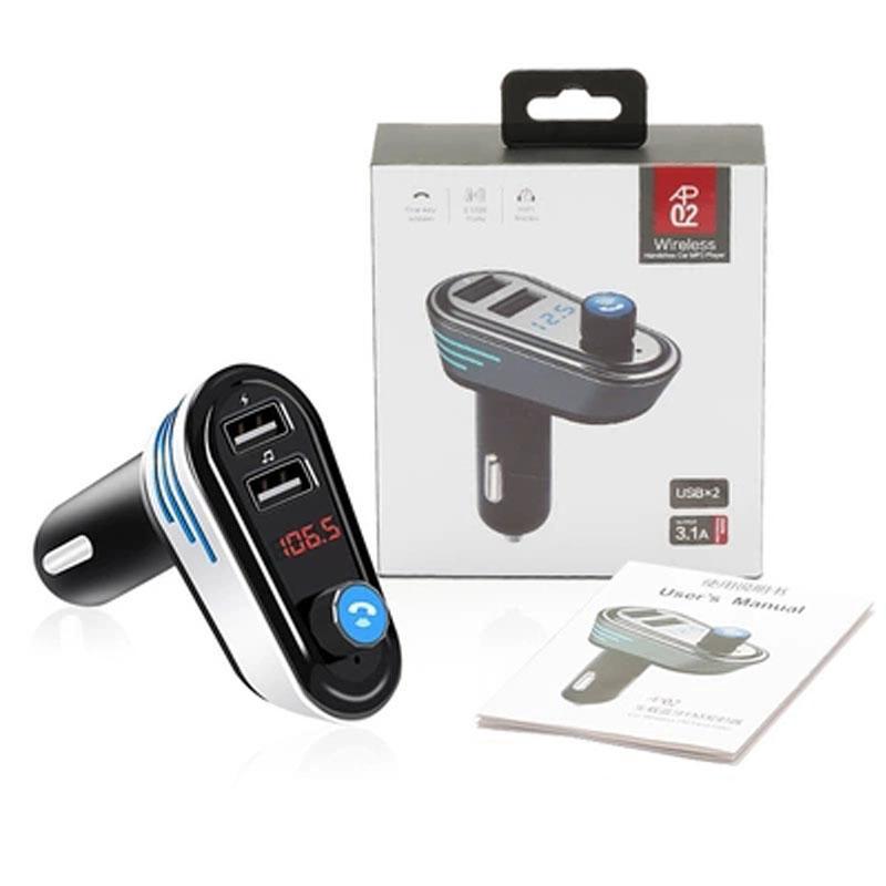 Auto-Ladegerät AP02 Doppel-USB-FM-Freisprecheinrichtung, die Bluetooth 4.2 Audio-Rauschunterdrückung unterstützt, u-Disk-Player und Aufladung für Telefon OTH168